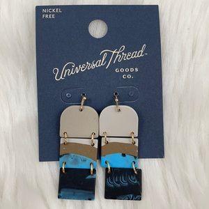 4/$20 Universal Thread Blue & Gray Drop Earrings